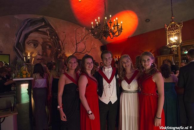 Studenten gala groepsfoto